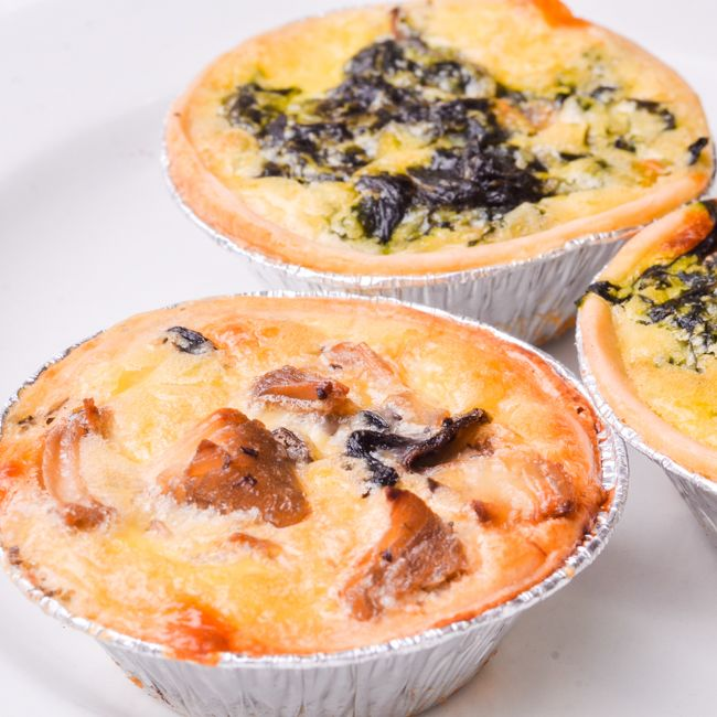 Quiche (Bacon & Mushroom) (Cocktail) (Available from 9h00)