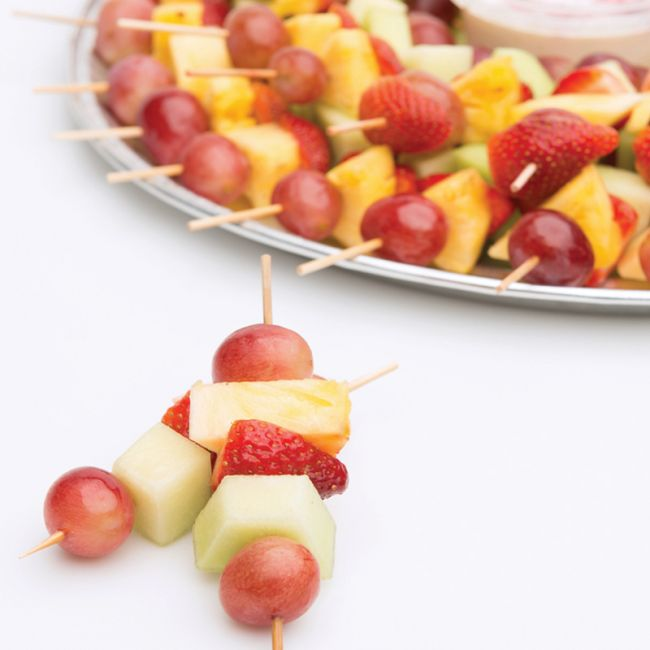 Fresh fruit skewer platter